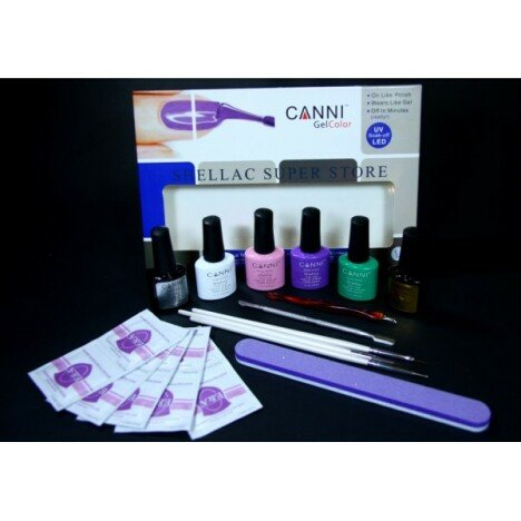 Set oje permanente Shellac Canni